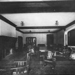 Circa 1910 photo of Illini Hall's Main Lounge.
