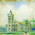 Watercolor rendering of Altgeld Hall