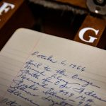 Each performer who plays the Altgeld Chimes dutifully records the songs performed in notebooks